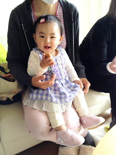 本革国産手作り赤ちゃん靴でごきげん♪