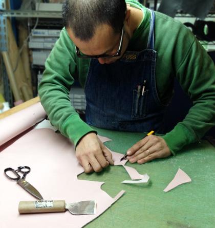 ベビー靴の製作技術者