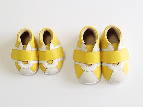 10cmと13cmのベビー靴比較