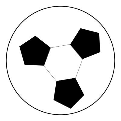 描きかけのサッカーボール