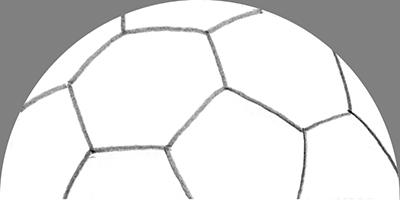 手描きの半球サッカーボール