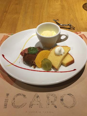 奈良のピッツァ専門店イーカロのデザート
