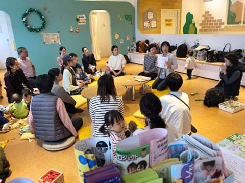子育て支援センターママンでの足育講座