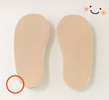 ベビー靴の中敷